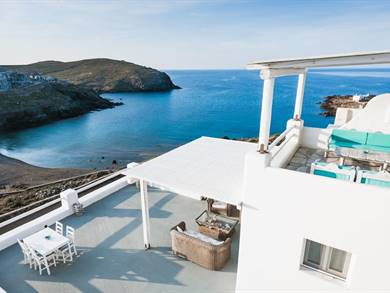 Sea Rock & Sky Private Residence Merchia Beach Mykonos
