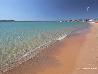 Spiaggia di Golden Beach Isola di Paros