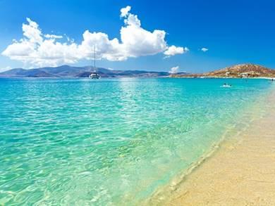 Spiaggia di Plaka Isola di Naxos