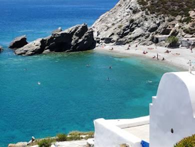 Spiaggia di Agios Nikolaos Beach Isola di Folegandros